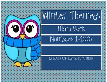Winter Numbers 1-120 Math Pack