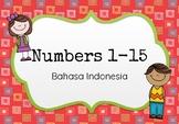 Numbers 1-15 in Bahasa Indonesia