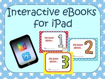 Numbers 1 2 3 interactive book for iPads