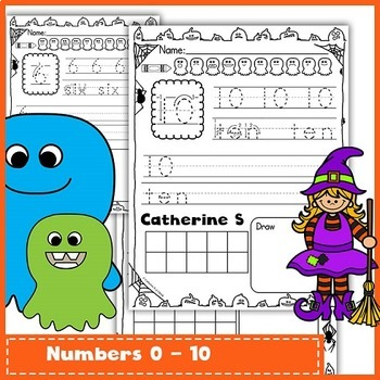 Number Sense to 20 - Halloween Math