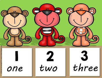 Number Posters 1-20 { Monkey Themed}