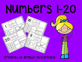 Math Mats: Numbers 1-20
