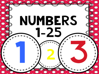Numbers 1-33