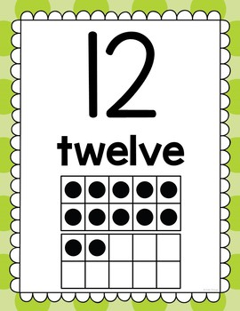 Numbers 1-20 Activities: Number Posters