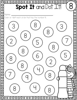 Numbers 1-20 Activities: Spot It and Dot It