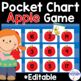 Apple Pocket Chart Game: Numbers 1-20