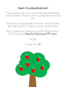 Numbers 1-20 Apple Tree Playdough mat