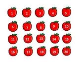 Numbers 1-20 Apples