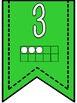 Numbers 1-20 Banner Pennants with Green Background