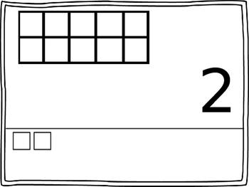 Numbers 1-20 Base Ten Frames
