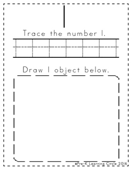 Numbers 1 - 20 Book(Counting, Coloring, Drawing, Tracing & Writing Pages)