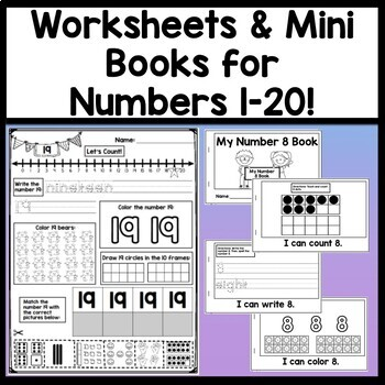 Numbers 1-20 Bundle {20 Combined Files!}