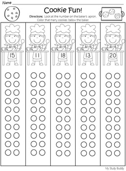 Numbers 1-20 Bundle (Kindergarten)