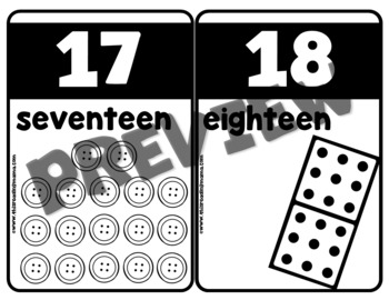 Numbers 1-20 Cards & Charts