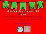 Numbers 1-20 Christmas Tree Freebie