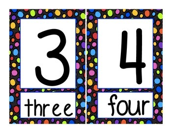 Numbers 1-20 Classroom Decoration