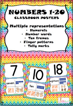Numbers 1 -20 - Classroom posters