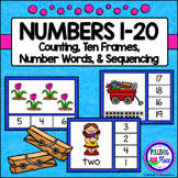 Numbers 1-20 Clip Cards: Spring Garden (80 cards)
