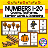 Numbers 1-20 Clip Cards: Fall Fun (80 cards)
