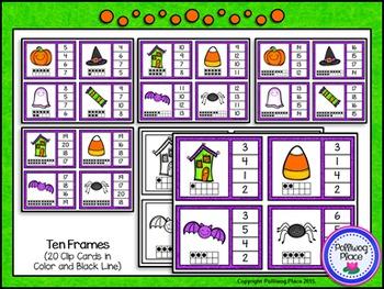 Numbers 1-20 Clip Cards: Halloween {BUNDLE}
