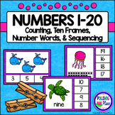 Numbers 1-20 Clip Cards: Sea Life (80 cards)