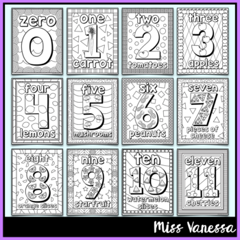 Numbers 10-210 Coloring Pages by Miss Vanessa | Teachers Pay Teachers