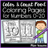 Numbers 0-20 Coloring Pages