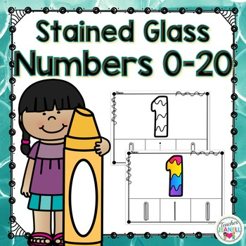 Numbers 0-20 Coloring Pages (Stained Glass)