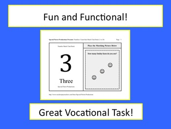 Numbers (1-20) Count then Match Task Book