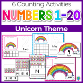 Unicorn Theme Numbers 1-20 Counting Activities | Counting