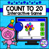 Numbers 1-20: Counting Game for PowerPoint - Balloons