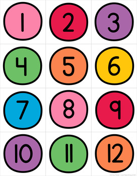 Numbers 1-20 Counting Mats | Pre-K and Kindergarten Math Centers