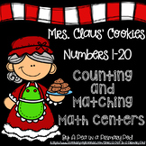 Numbers 1-20 Counting and Matching Math Centers (Christmas)