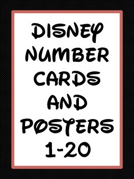 Numbers 1-20 Disney Number Charts