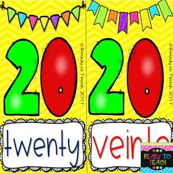 Numbers 1 - 20 / Dual Posters  or Flashcards # 23 Pages