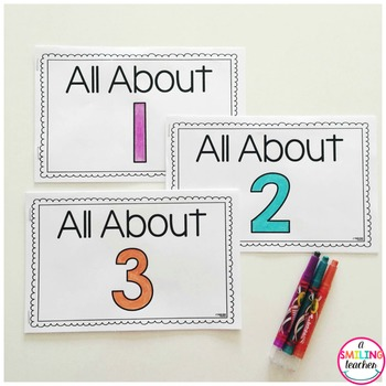 Numbers Books 1-20 Emergent Readers (Interactive)