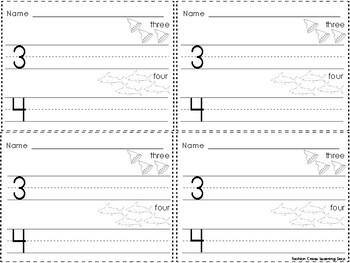 Numbers 1-20 Exit Slips
