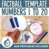 Numbers 1-20 Factball printables