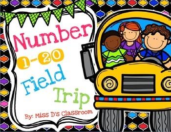 Numbers 1 - 20 Field Trip MEGA Bundle! (NON US VERSION)