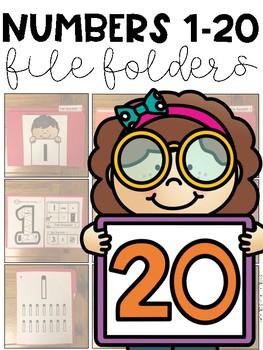 Numbers 1-20 File Folder Tasks