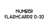 Numbers 1-20 Flashcards