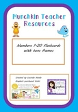 Numbers 1-20 Flashcards with tens frames