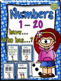 "Numbers 1-20 - Game ""I have... Who has...?"""