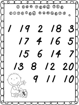 Numbers 1-20 Goal Book (FREE!)