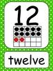 Numbers 1-20 Green Polka Dots