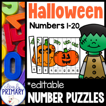 Numbers 1-20: Halloween Number Puzzles