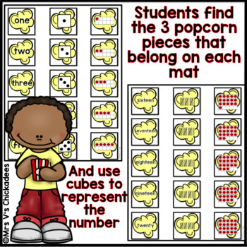 Numbers 1-20 Hands on Center: Dice, Tally Marks, Ten Frames & Number Words