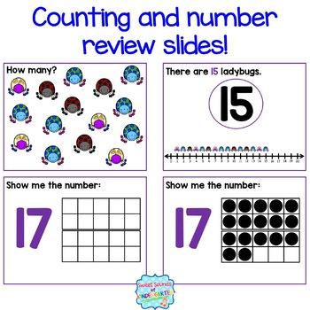 Numbers 1-20 Interactive Powerpoints BUNDLE {Number Powerpoints & Songs}