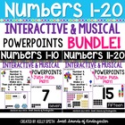 Numbers 1-20 Interactive Powerpoints BUNDLE {Number Powerpoints & Songs}