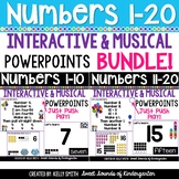 Numbers 1-20 Interactive Powerpoints BUNDLE {Number Powerp